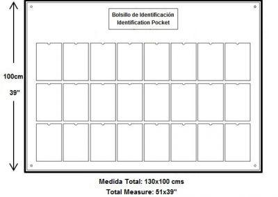 24 Bolsillos. Tamaño: Carta Media Hoja