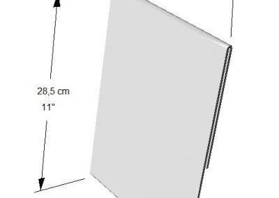 Portador Vertical de información (1 lado).  Tamaño:  Hoja de Carta