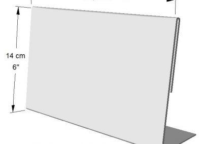 Portador Horizontal de información (1 lado).  Tamaño: 1/2 de Hoja de Carta
