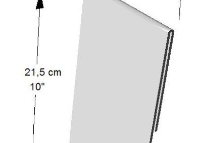 Portador Vertical de información (1 lado). Tamaño: 1/2 de Hoja de Carta
