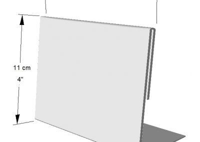 Portador Horizontal de información (1 lado). Tamaños: de Hoja de carta (1/4)