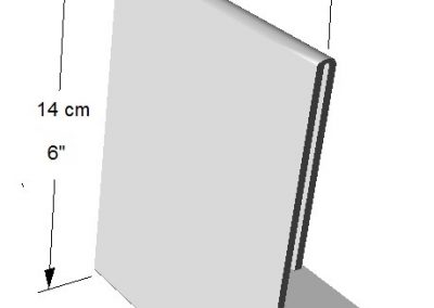 Portador Vertical de información (1 lado). Tamaños: de Hoja de Carta (1/4)