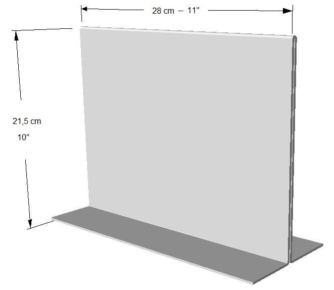 Exhibidor horizontal (2 lados) Tamaño: Hoja de carta