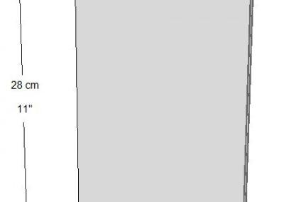 Exhibidor vertical (2 lados) Tamaño: Hoja de carta