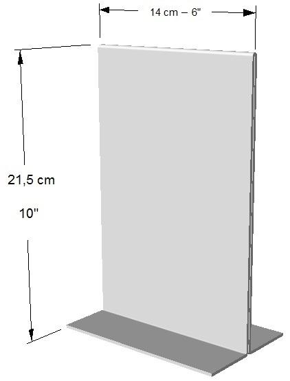Exhibidor ambos lados vertical.  1/2 Hoja de Carta