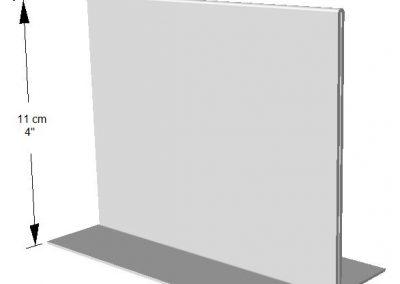 Exhibidor horizontal ambos lados.  1/4 Hoja de Carta