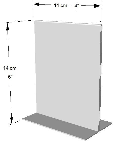 Exhibidor ambos lados vertical.  1/4 Hoja de Carta