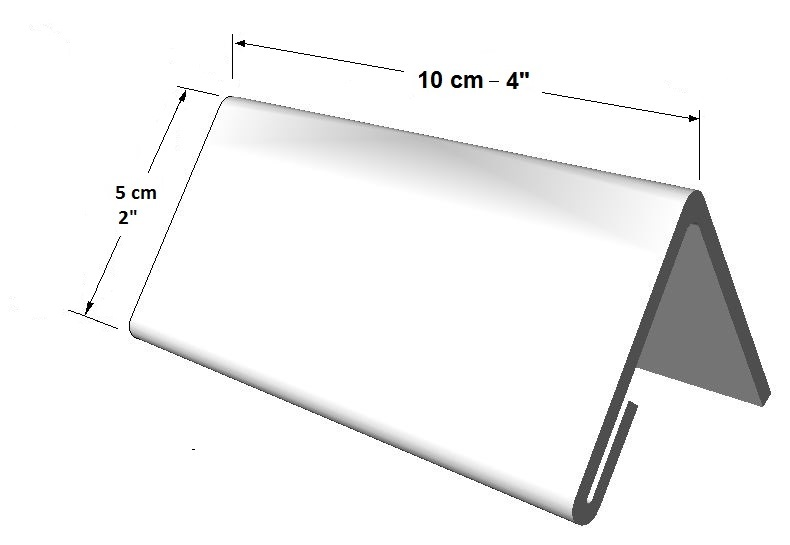 Portador informativo tamaño pequeño  (1 lado) para escritorio