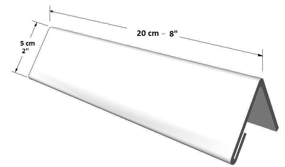 Portador informativo tamaño largo (1 lado) para escritorio