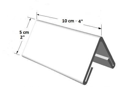 Portador informativo tamaño pequeño (2 lados) para escritorio