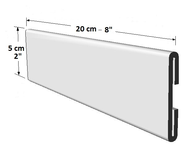 Portador informativo tamaño largo para puertas