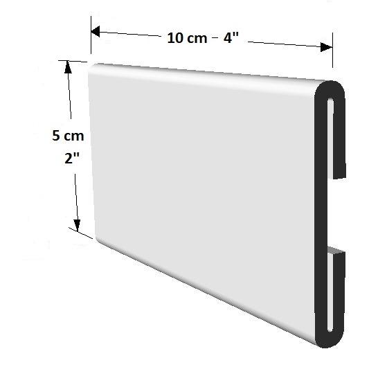 Portador informativo tamaño pequeño para puertas